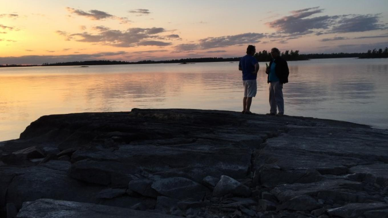 Conversations at Sunset in Voyageurs National Park – Eric Johnson