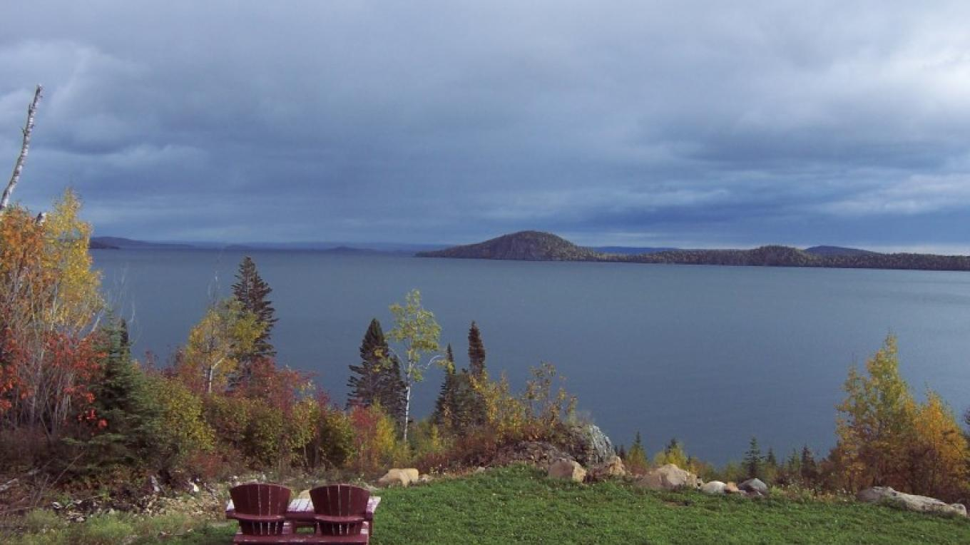 View of Lake Superior from the Cottage – Bonzi Wuebben
