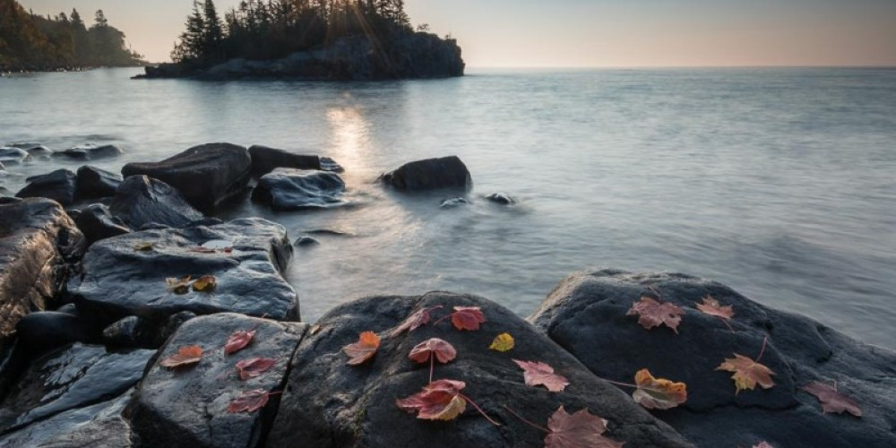 The sunrise over Lake Superior. – Bryan Hansel