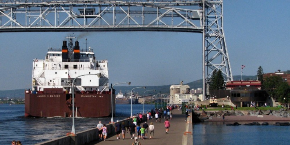 Arrival of the bulk freighter James R. Barker – US Army Corps of Engineers