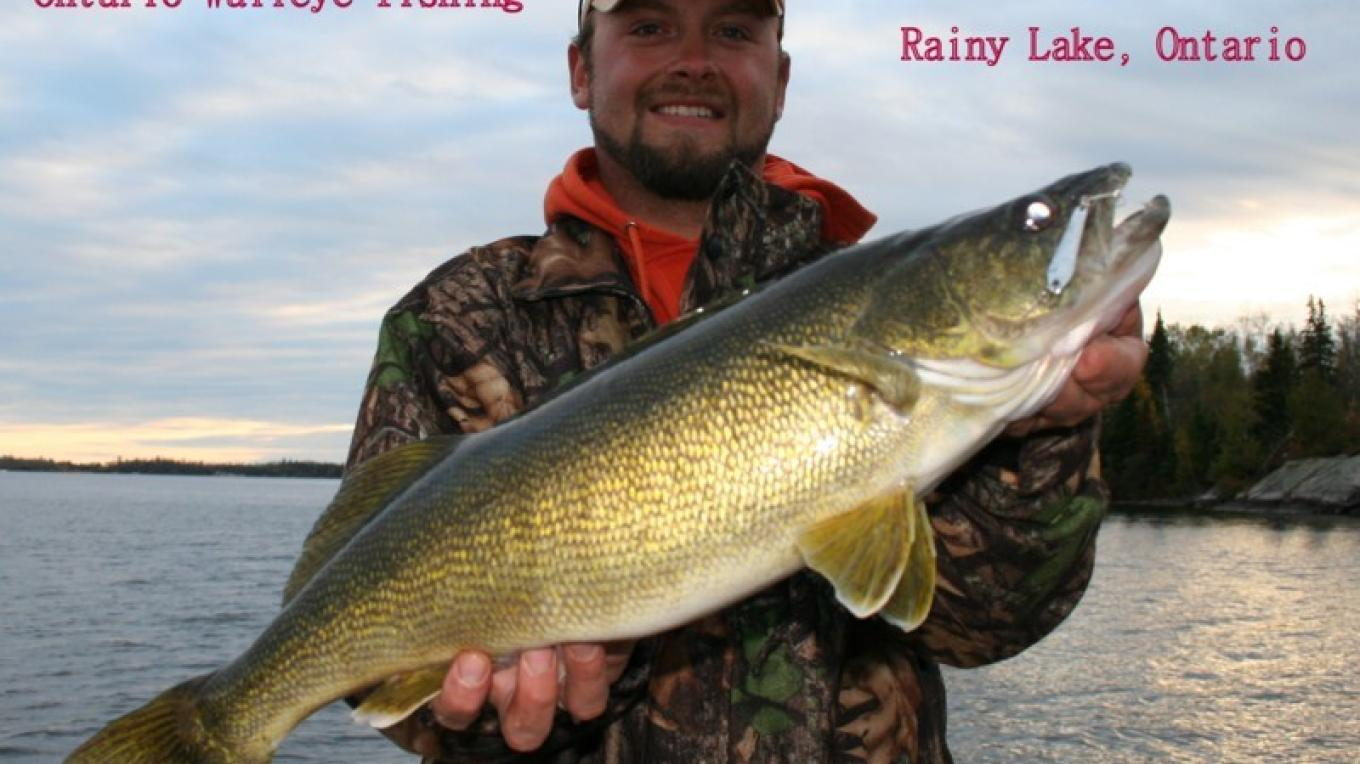 one of the best trophy walleye lakes in North America – Tom Pearson
