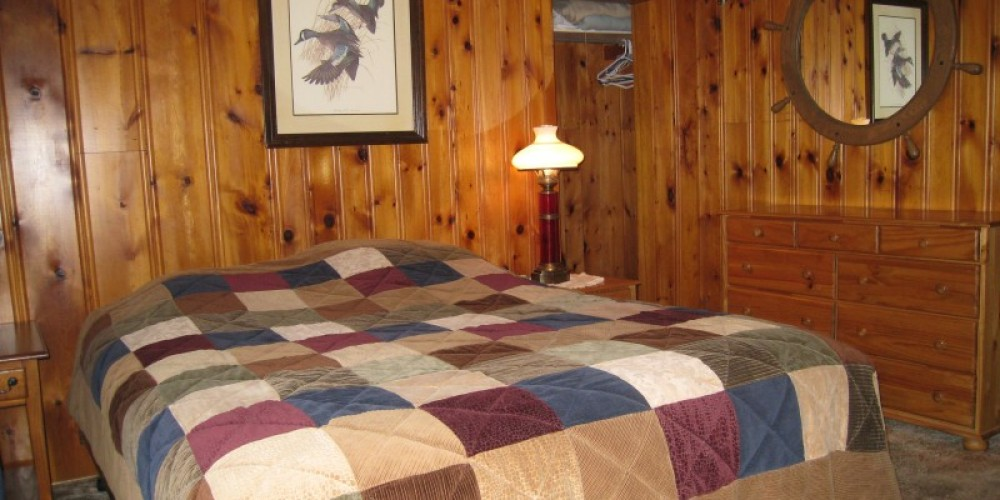 Master bd rm, queen bed in cabins #1, #2 & #3