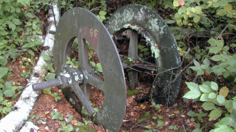 Metal wheel, Little American Island, Voyageurs National Park – NPS