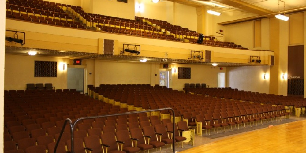 Backus Auditorium, seats 1,000, available for rental – Backus Staff