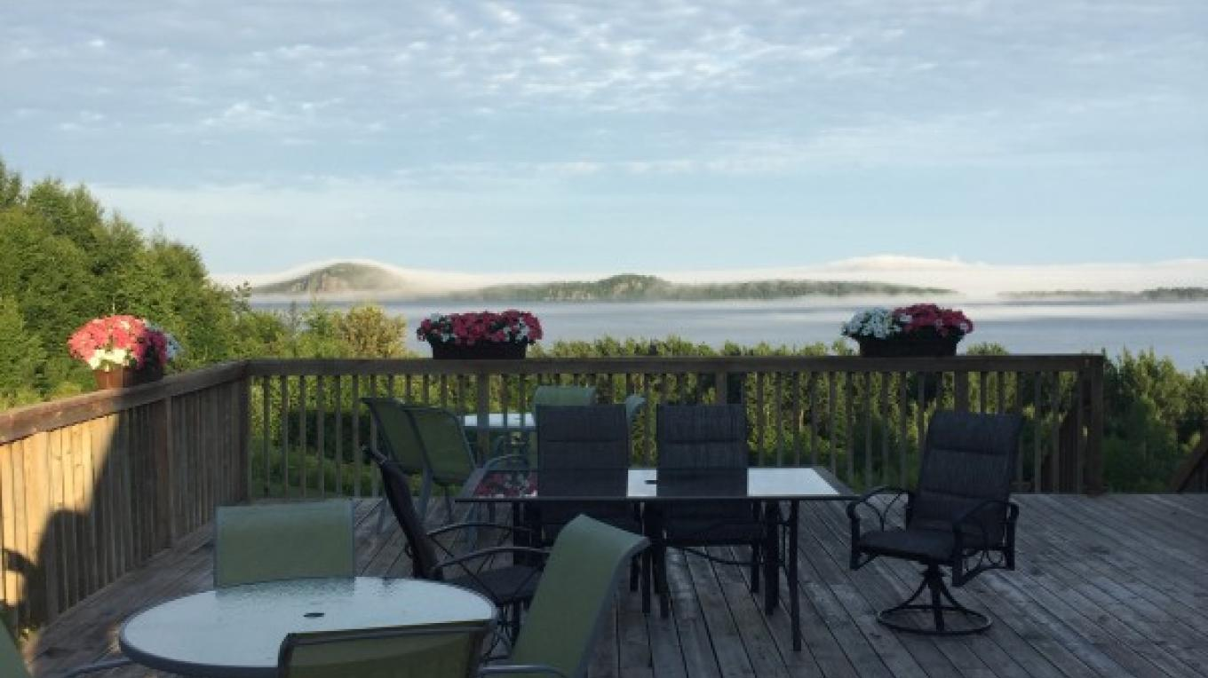 View from the Patio of the Main Lodge – Courtney Lanthier