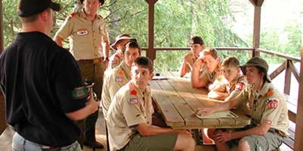 Equipment review with Scout troop – John Schiefelbein
