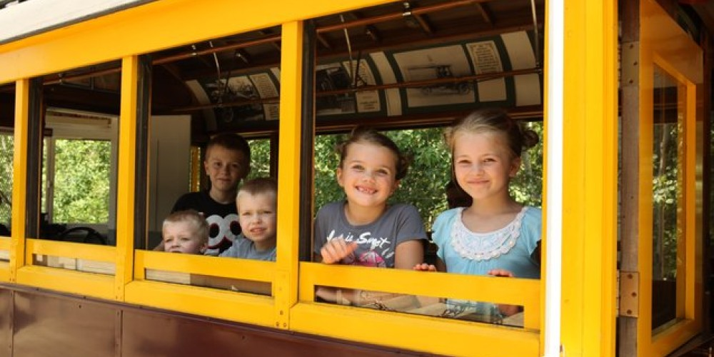 Kids ready for a Trolley ride!