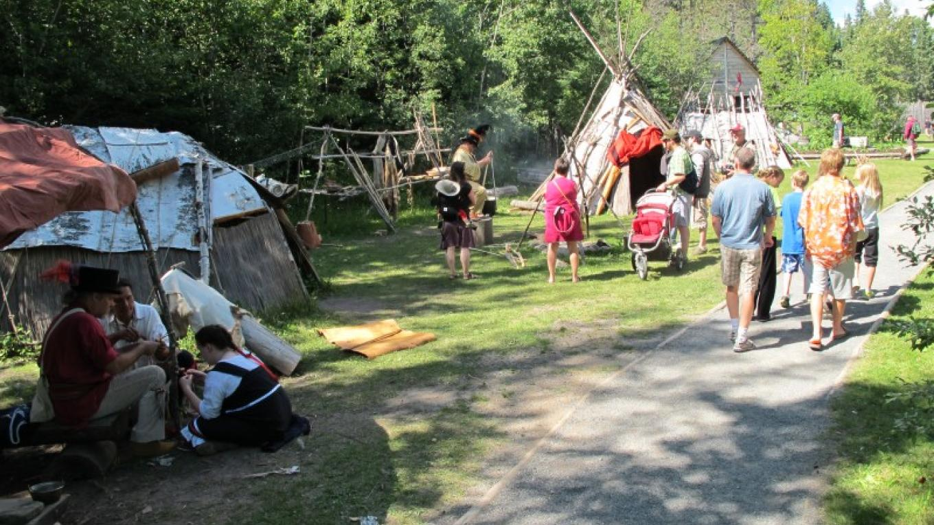The Ojibwe Village offers a glimpse into life outside the fur trade depot. – Beth Drost, NPS