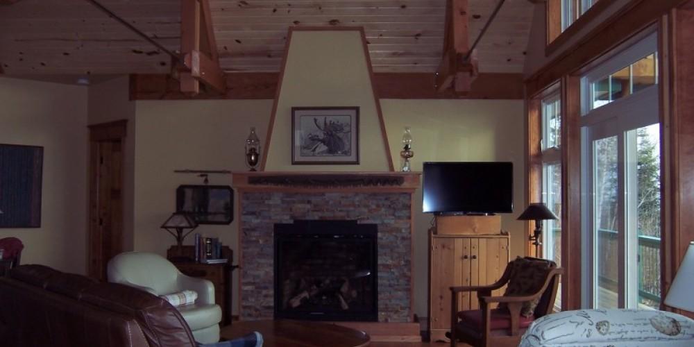 Living room with gas fireplace – Bonzi Wuebben