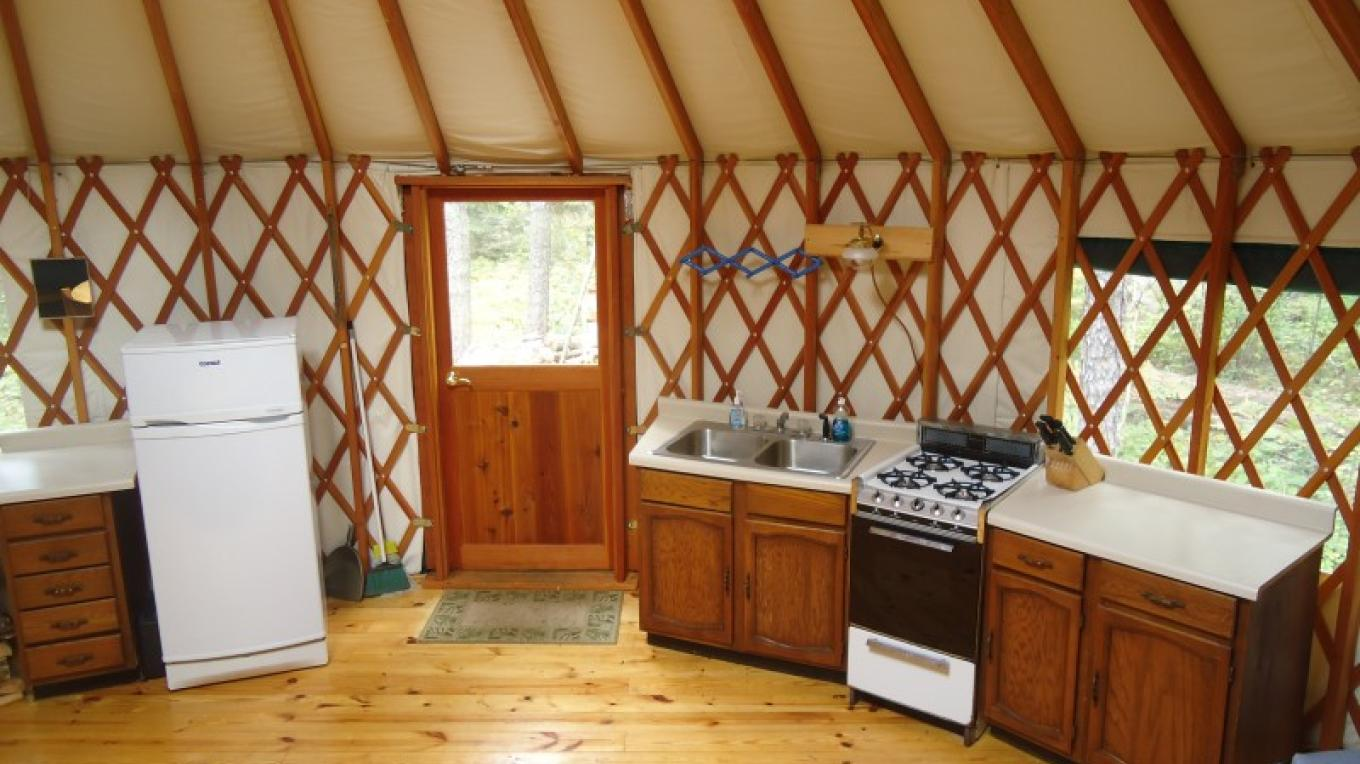 Wilderness Yurt Kitchen – Owner