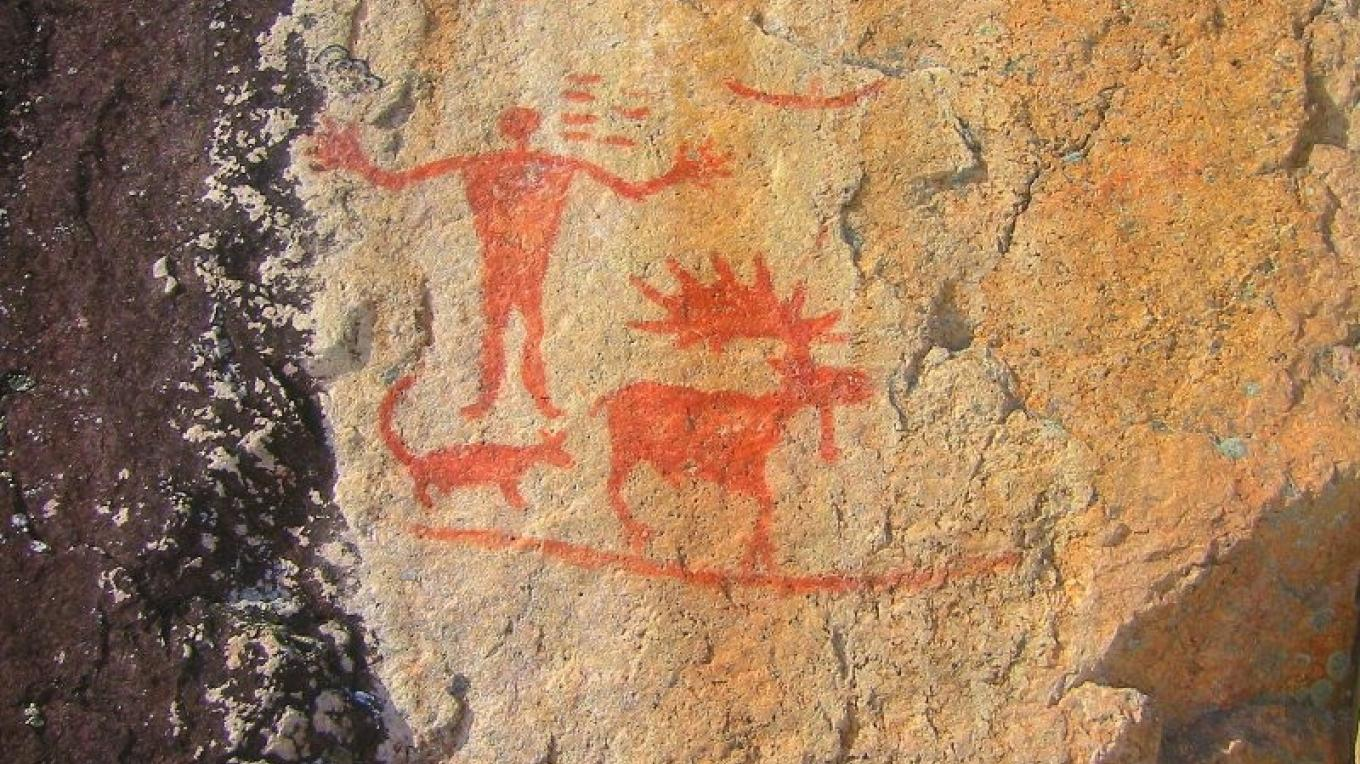 Native American pictographs in N. Hegman Lake in the BWCAW. – Ely Outfitting Company