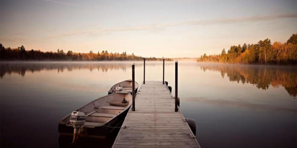 Fall Morning on the dock – Northernair Lodge