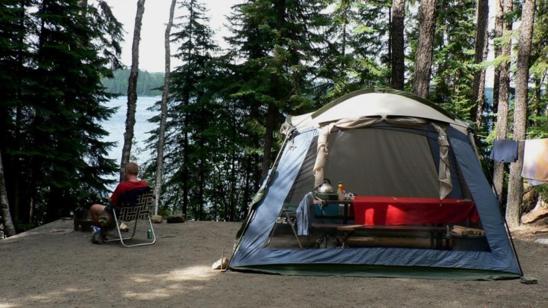 Ojibwa tent site