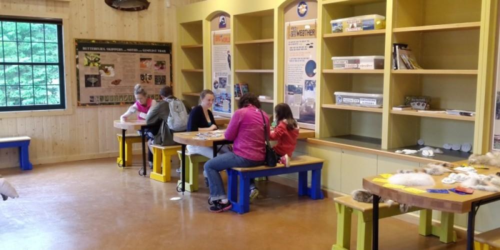 Work stations in Chik-Wauk Nature Center