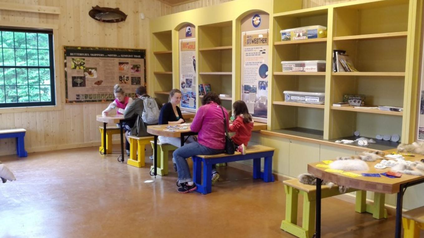 Work stations in Chik-Wauk Nature Center