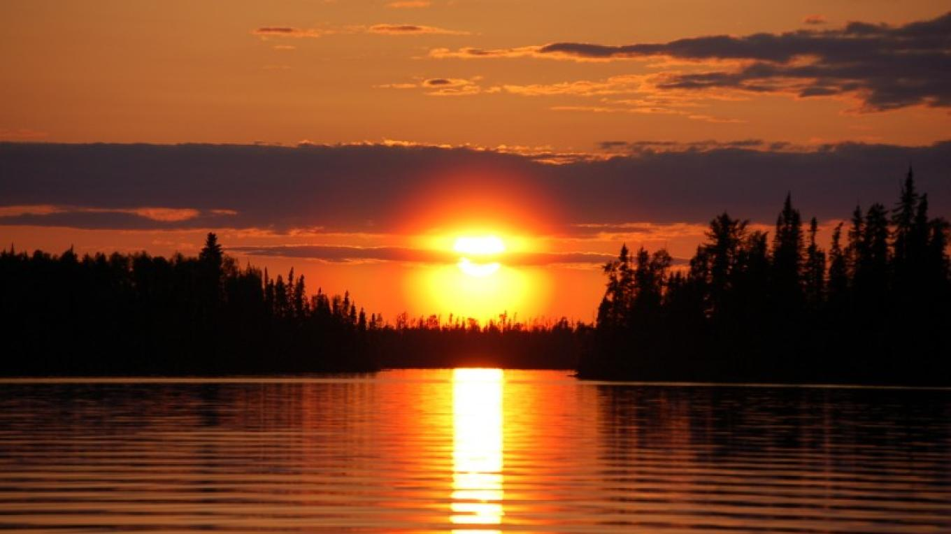 Days in the Boundary Waters are finished with beautiful sunsets! – B. Paschke