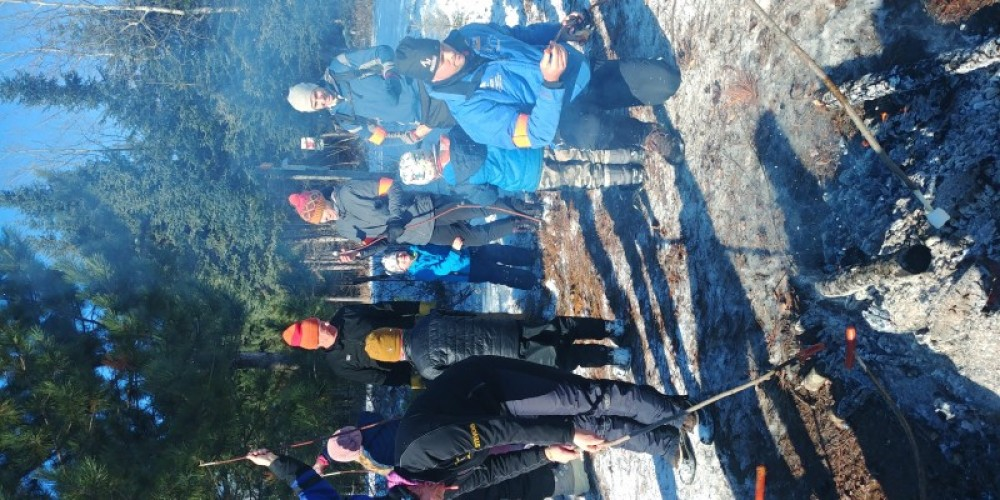 Lappe Nordic Ski Club Jackrabbit early ski season bonfire – Lappe Nordic