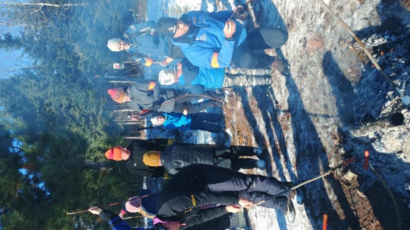 Lappe Nordic Ski Club Jackrabbit early ski season bonfire – Lappe Nordic