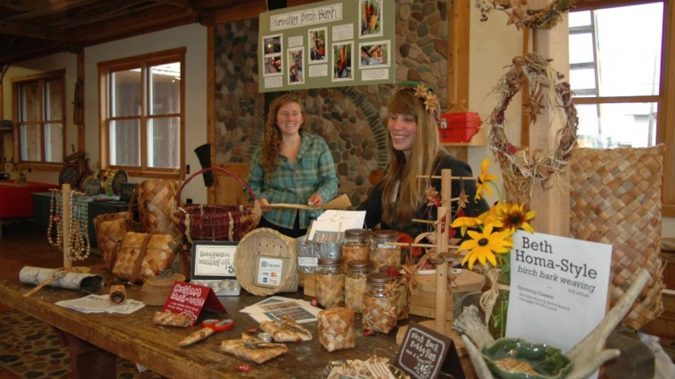 The Craft Artisan Market offers everything from woven birch bark goods to wooden bowls. – North House Folk School