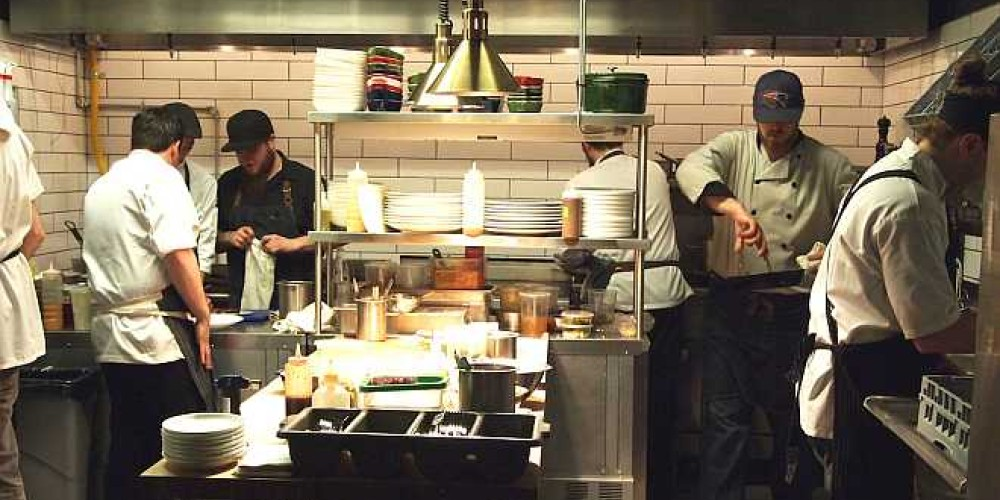 A busy kitchen preparing culinary delights. – Duncan Weller