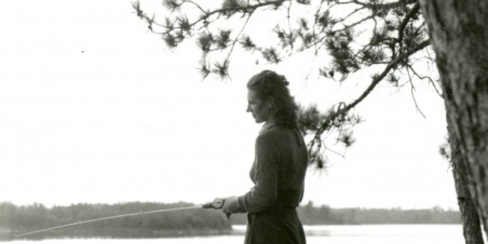 "Women fishing at ""Pine Cove"" – MHS"