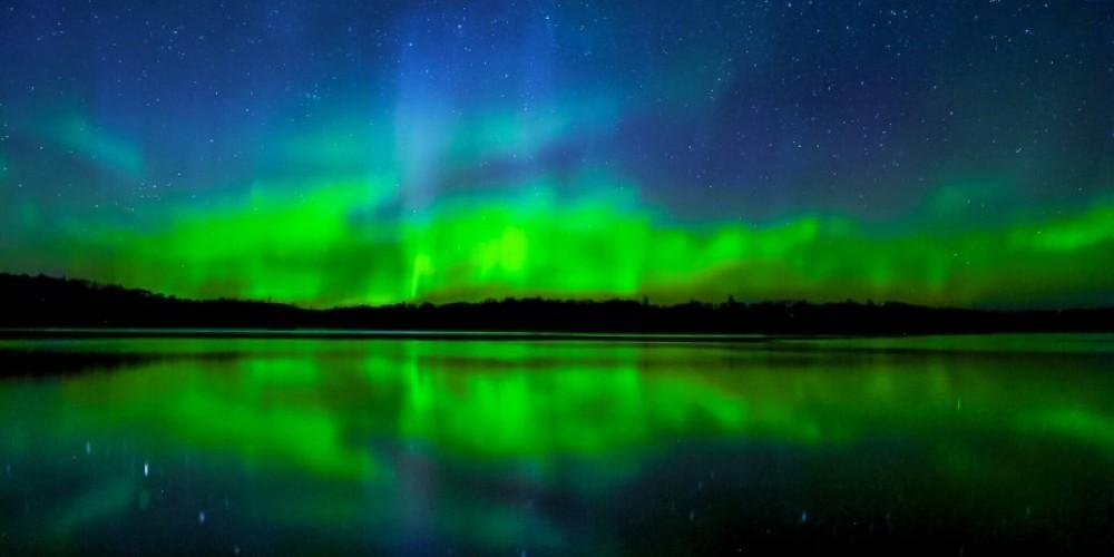 Northern lights over Banning Lake!