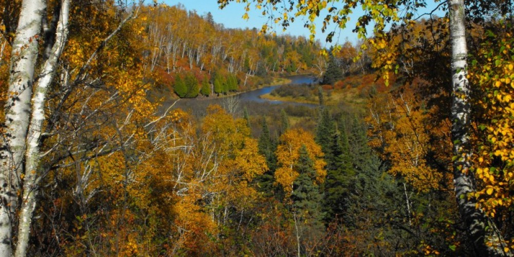 Gooseberry River flowing downstream to Lake Superior – Ericka Iverson