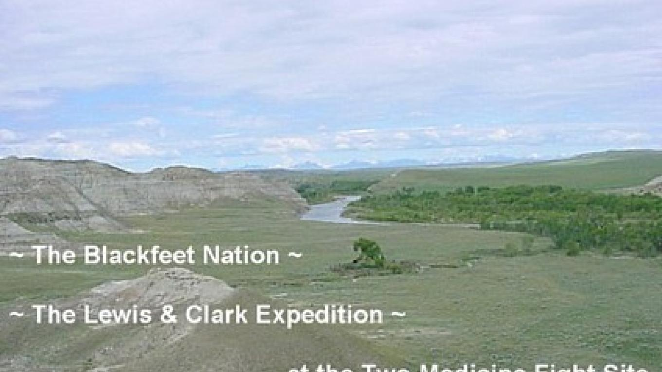 Lewis and Clark's encounter at the Two Medicine Fight Site on the Blackfeet Indian Reservation. – Stew Miller