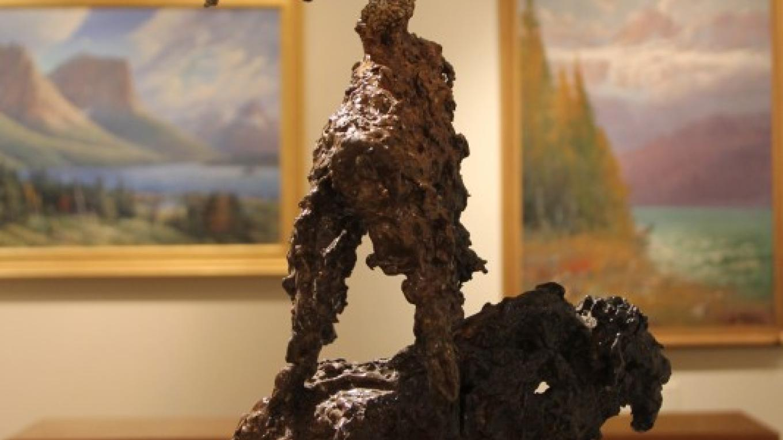 "King Kuka ""One Was White"", bronze, 23"" x 13"" x 11""; Hockaday Museum of Art Permanent Collection. – Brian F. Eklund"