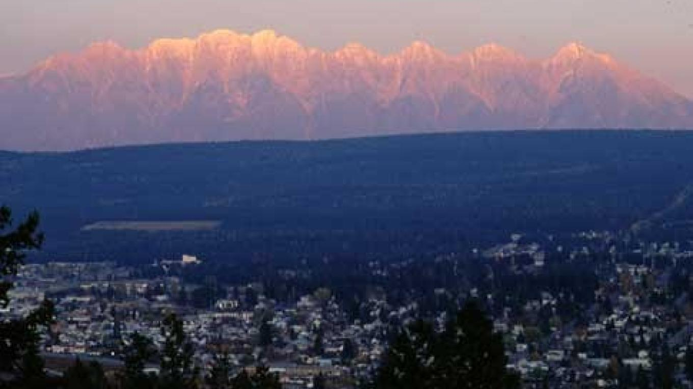 The majestic City of Cranbrook with its Rocky Mountain backdrop. – Brian Clarkson