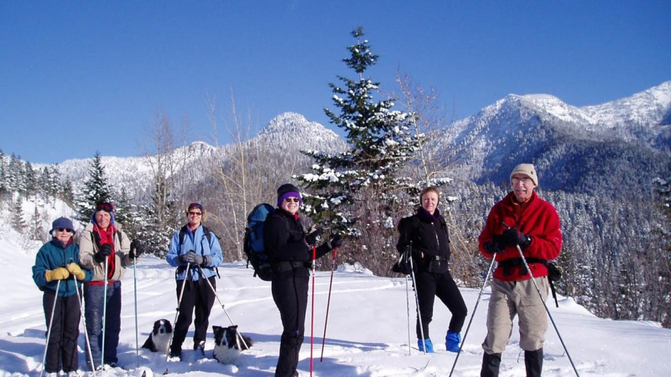Skiing, great companionship, and great views of the Swan Range. – Keith Hammer