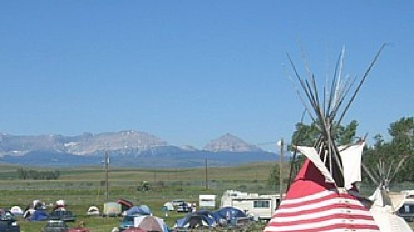 North Ameican Indian Days Celebration Grounds, looking west at the Rocky Mountains and Glacier National Park. – Colleen\'s Computer Corner, LLC