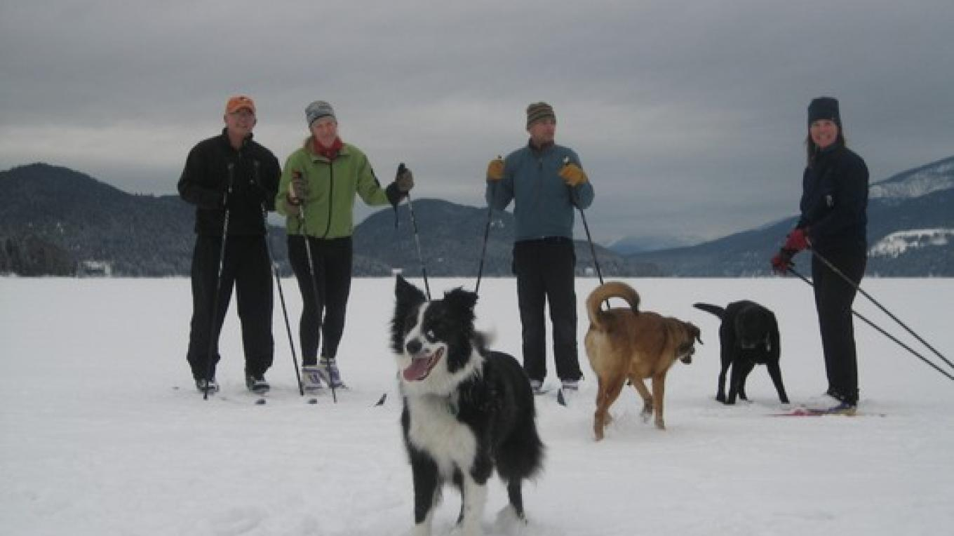 Everyone is in a good mood on the ice, even the pups! – Steve Thompson