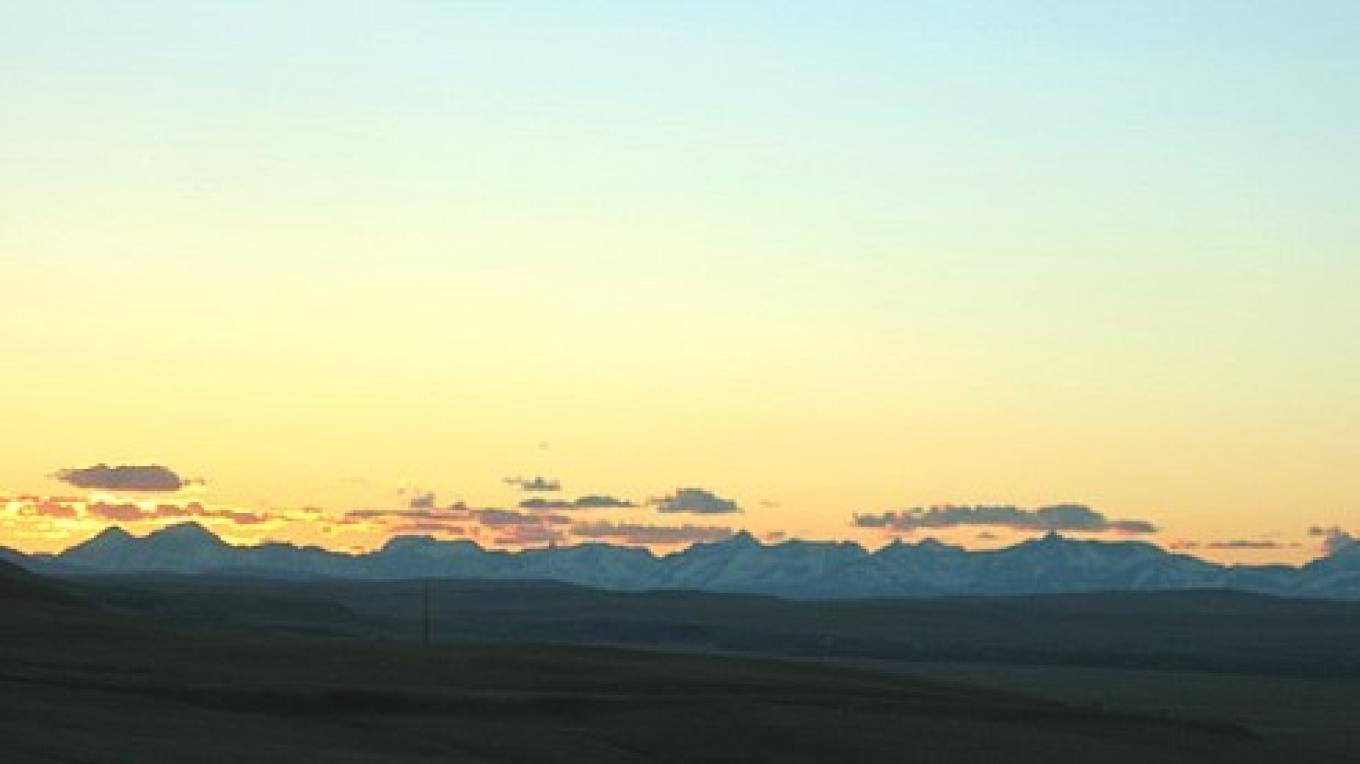 The Rocky Mountain Front at sunset. – Colleen's Computer Corner, LLC