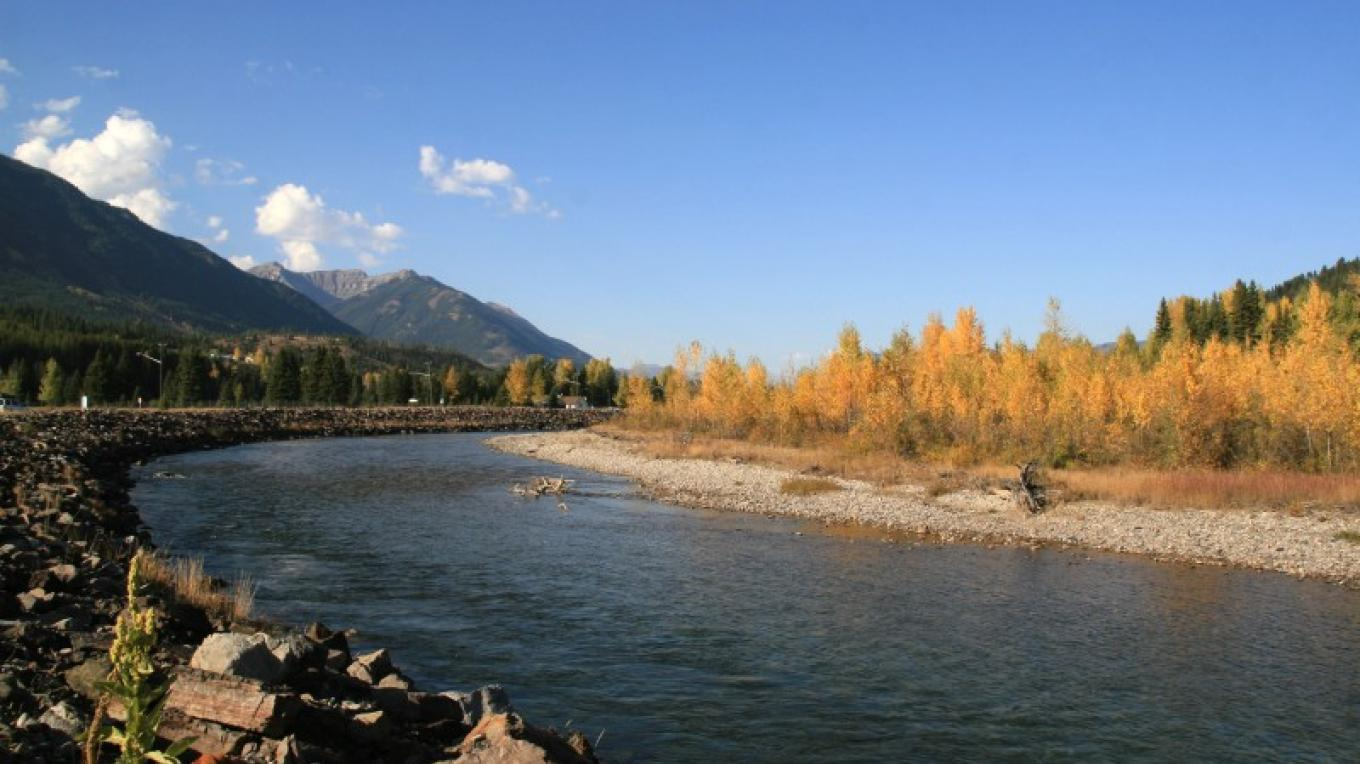 Autumn shot of the Elk River near Elkford. – Jomac Photography