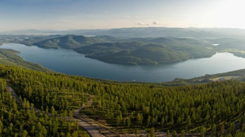 Panoramic view of Whitefish Lake looking South. – gravityshots.com