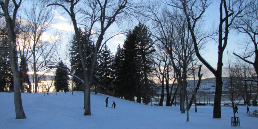 Giant Springs State Park offers sledding opportunities in the winter. – Sheena Pate