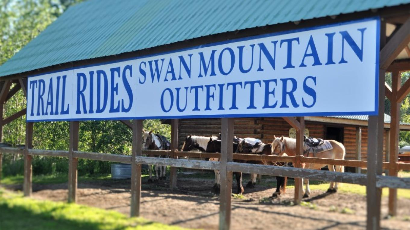 Swan Mountain Outfitter trail rides leave from Discovery Center. – Katie LeBlanc