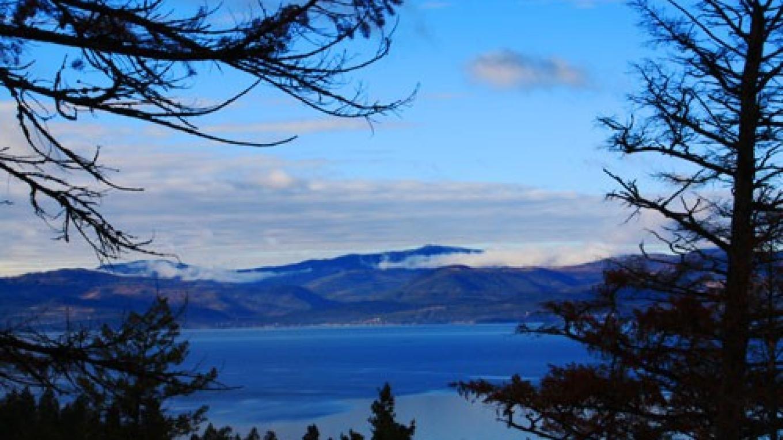 Flathead Lake, just southwest of Bigfork, Bay from Wayfarer\'s Park, Bigfork, MT – E.A.Summers