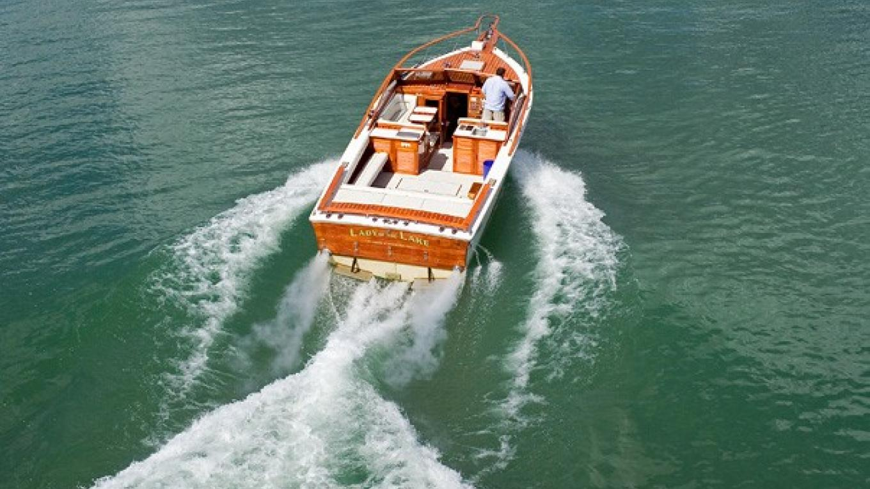 Heading up lake – Lady of the Lake Boat Cruise