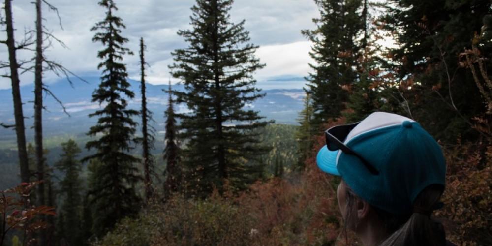 Looking towards south towards Flathead Lake from Peters Ridge Trail #37. – Sheena Pate