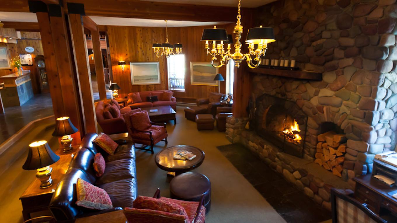 Kandahar Lodge has a lovely lobby. – Kat Gebauer
