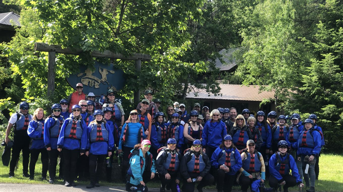 Rafting for Refuse Participants – Courtesy Glacier Guides & Montana Raft Co.