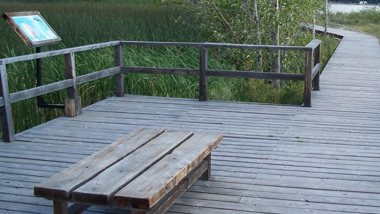 Viewing platform overlooking the wetland and Lake Windermere – Nick Berzins
