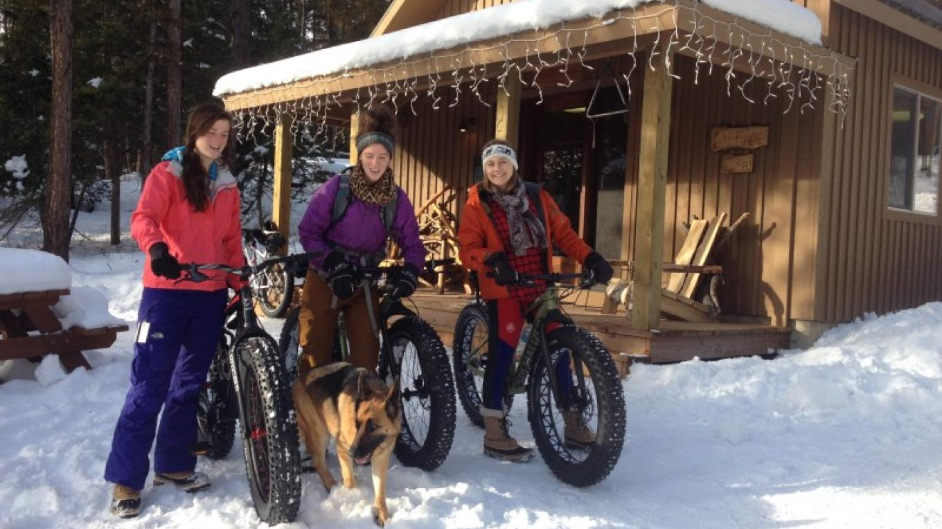 Guests Heading Out From Retreat For A Fat Bike Ride – Cricket Butler