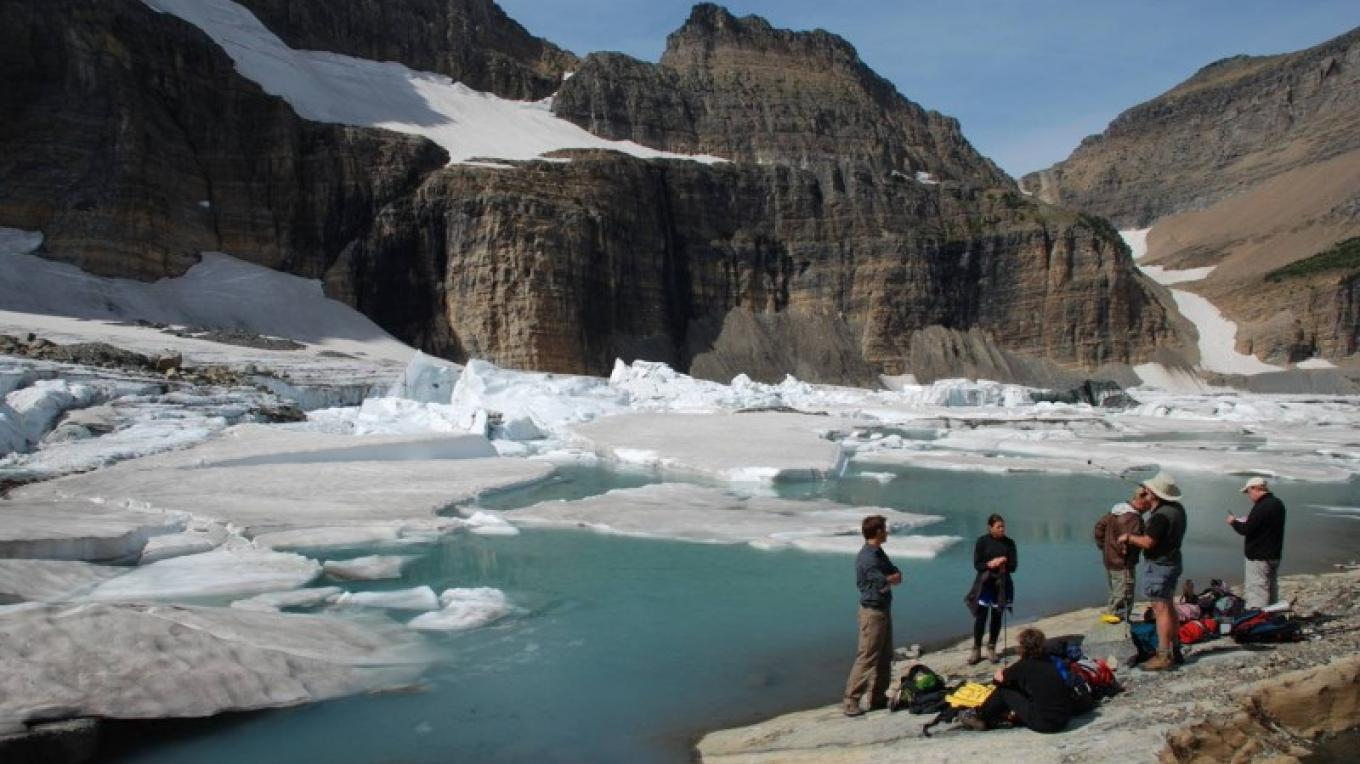 Scientists in Glacier National Park document the rapid decline of the park's iconic glaciers – Courtesy USGS