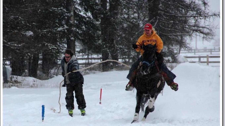 2015 Ski Joring Practice- Lynn Hausauer – Marguerite Amstadt