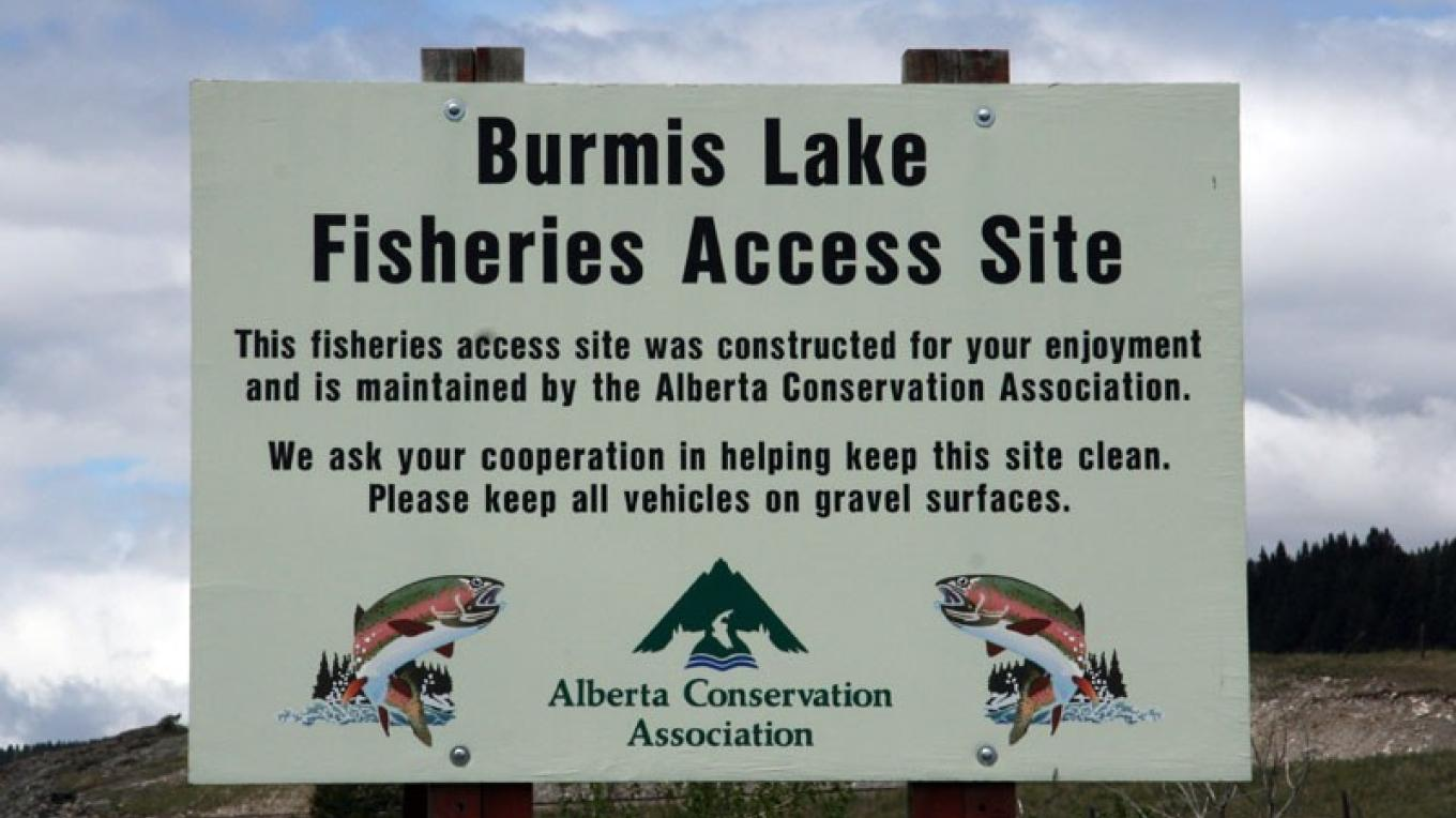 Burmis Lake fishing access is maintained by Alberta Conservation Association. – David Thomas