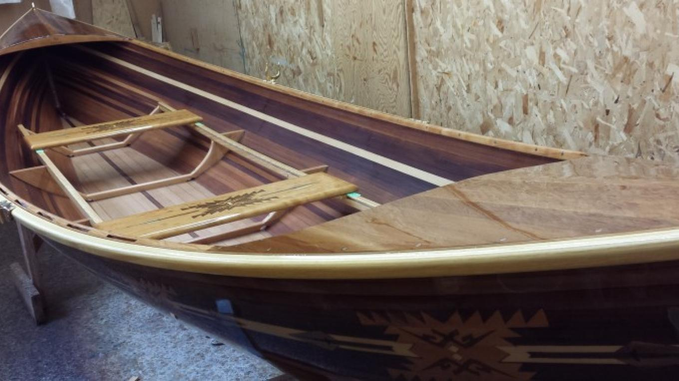 Nathanael Herreshoff boat design with Pendleton inlay. – Sheena Pate