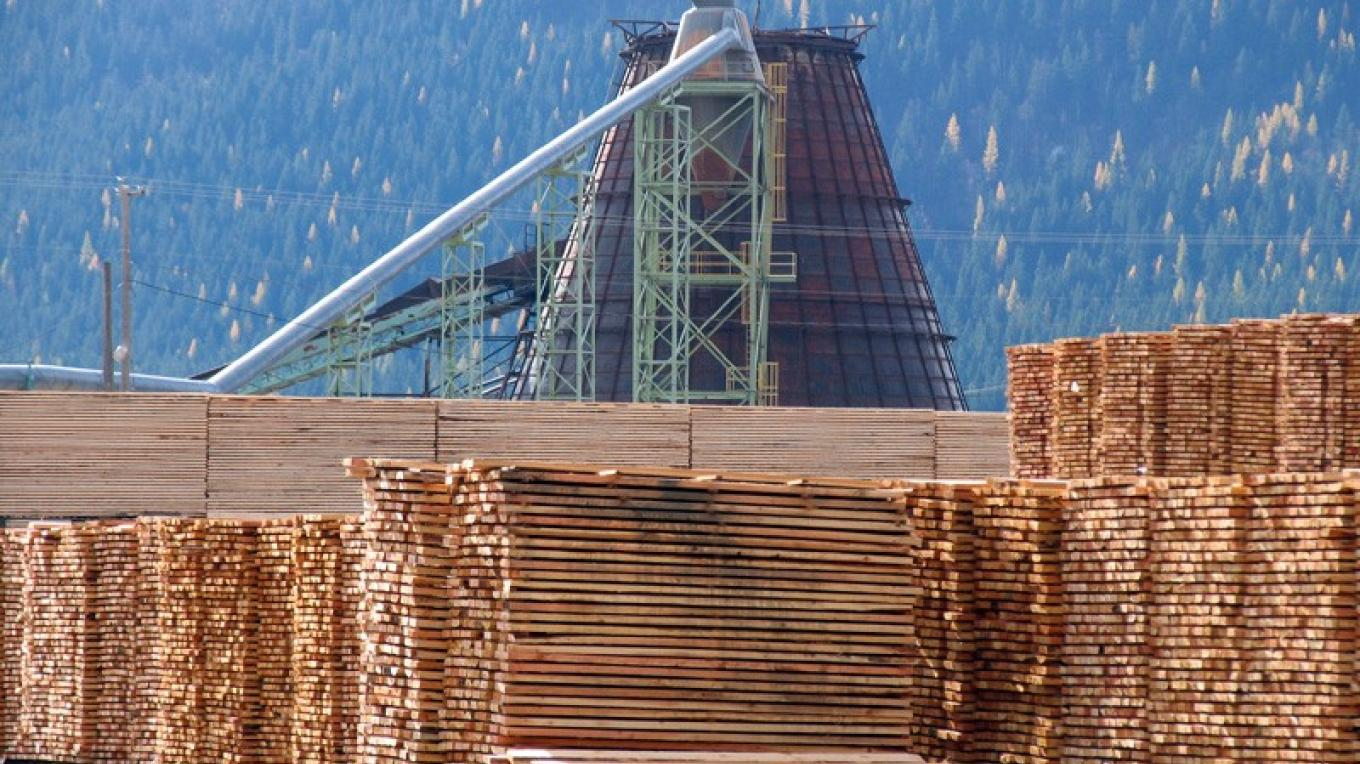 Tembec is the biggest lumber producer in the British Columbia sector of the Crown. This mill at Elko, BC, cuts framing lumber for the housing market. – David Thomas